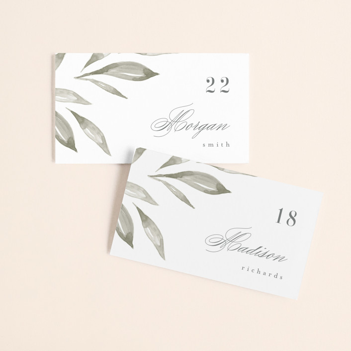 """""""Whispered Leaves"""" - Wedding Place Cards in Leaf by Kristie Kern."""