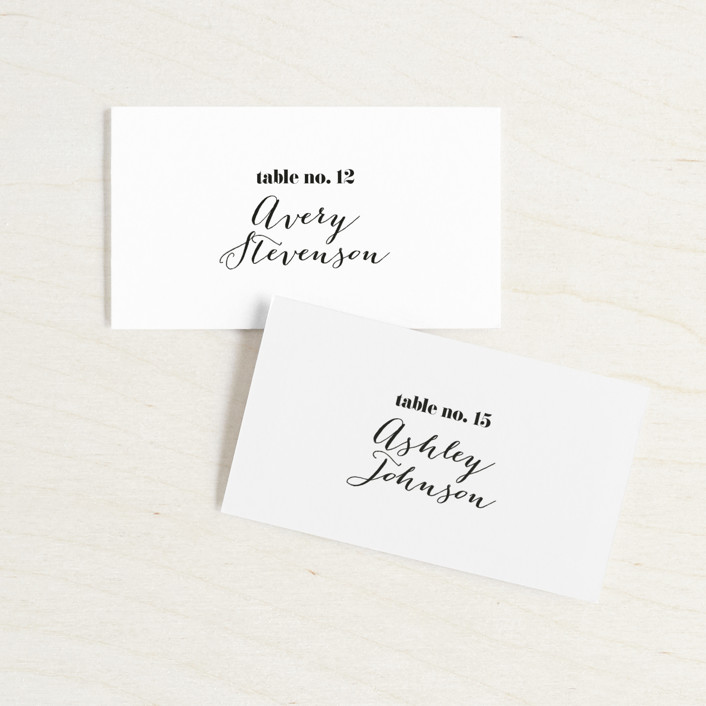 """Letters"" - Wedding Place Cards in Silk by JoAnn Jinks."