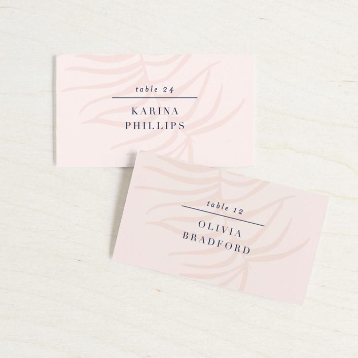 """Acapulco"" - Modern Wedding Place Cards in Indigo by Angela Marzuki."