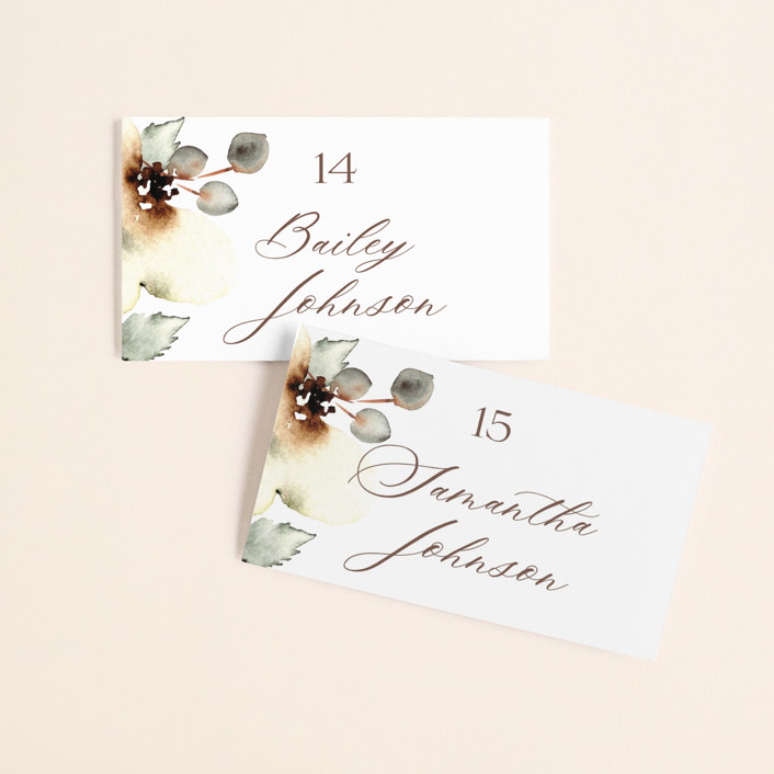 """""""Bella Mia"""" - Wedding Place Cards in Autumn by Petra Kern."""