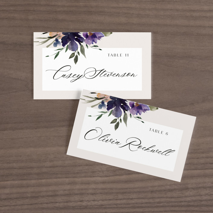 """""""ivi"""" - Wedding Place Cards in Ivory by Lori Wemple."""