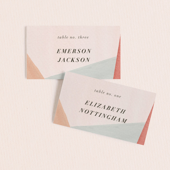 """""""Eleanor"""" - Wedding Place Cards in Rose by Creative Parasol."""
