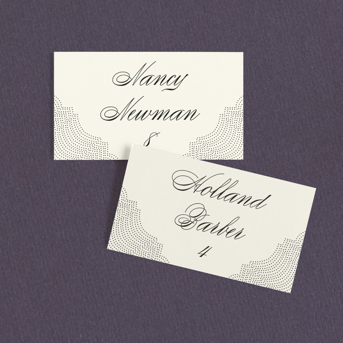 """Splendorous"" - Vintage Wedding Place Cards in Cream by Design Lotus."