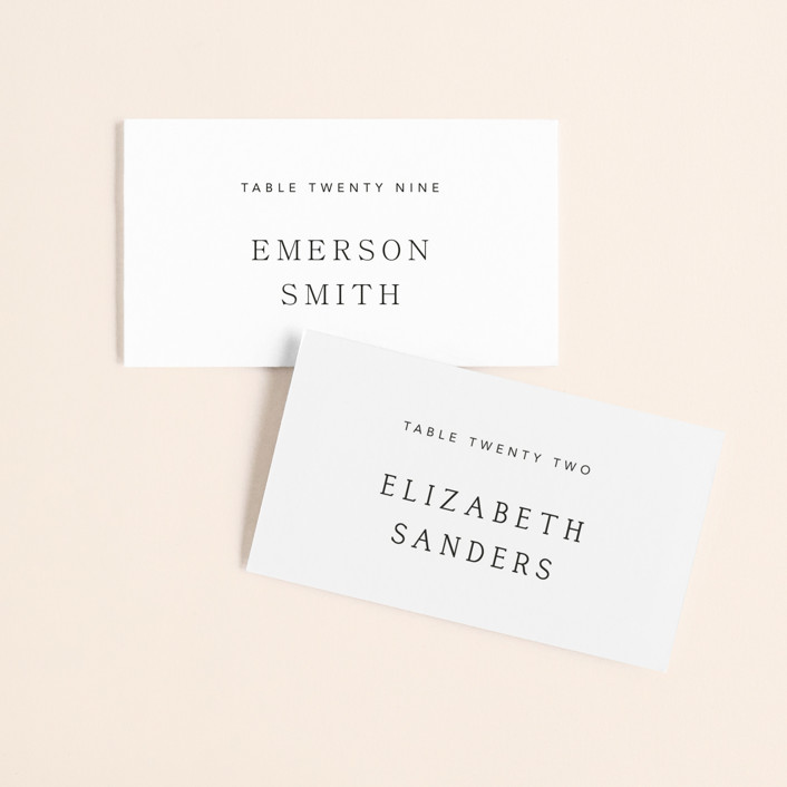 """Svelte"" - Wedding Place Cards in Ivory by Fig and Cotton."