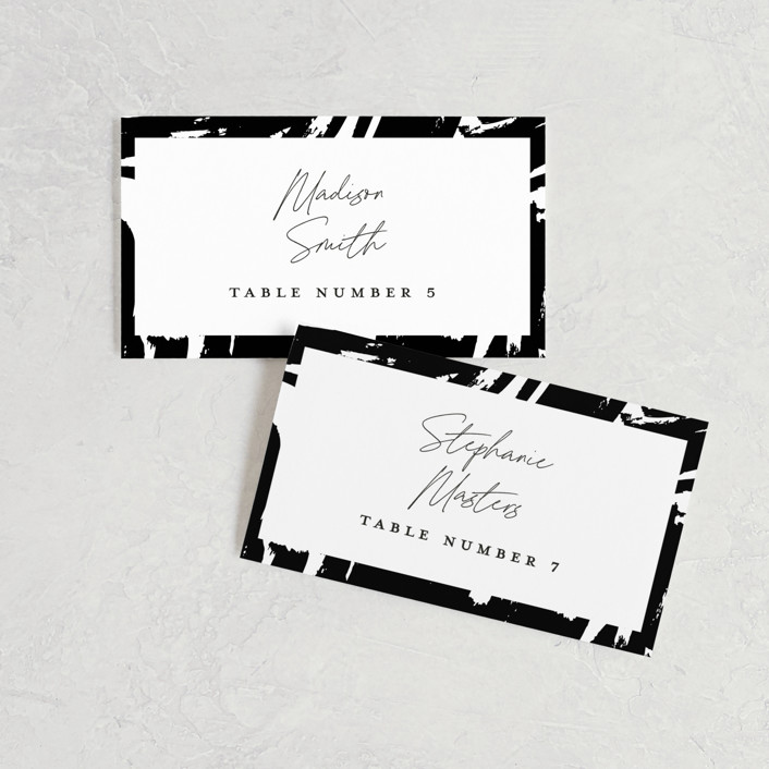 """""""Landscape"""" - Wedding Place Cards in Black Tie by Laura Hamm."""