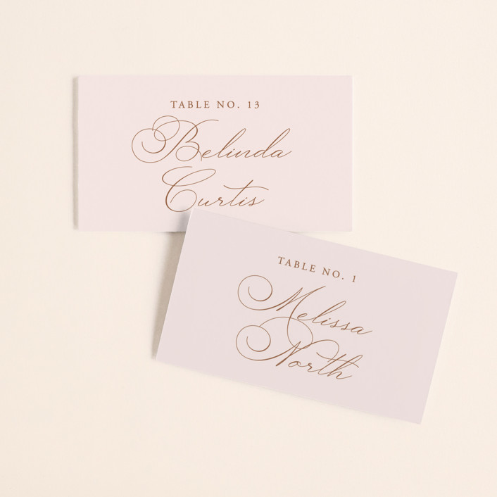 """""""Organza"""" - Wedding Place Cards in Linen by Jill Means."""