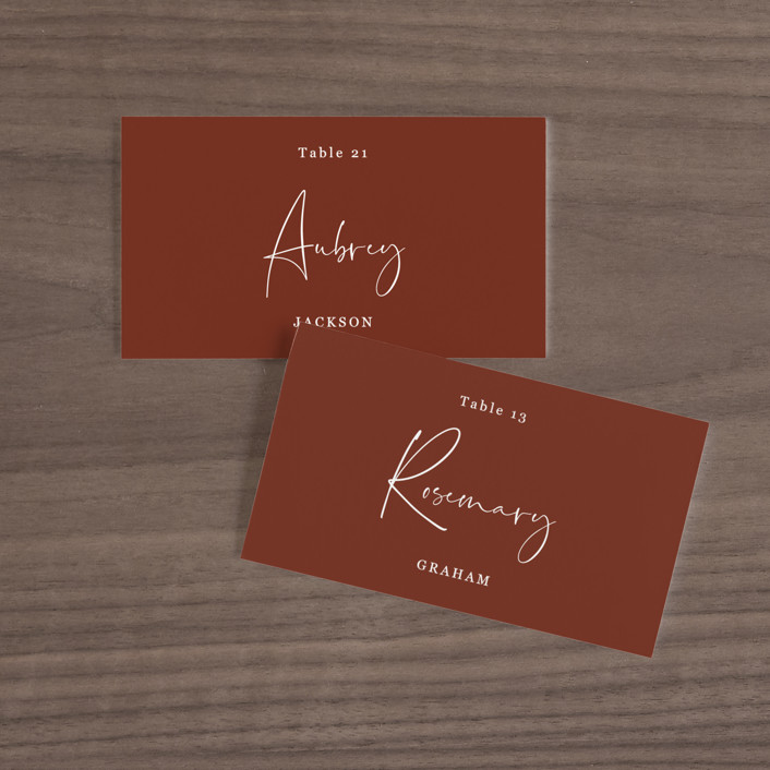 """""""stylist script"""" - Wedding Place Cards in Ivory by Cass Loh."""