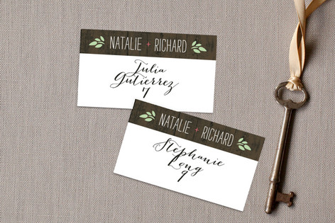In the Park Wedding Place Cards