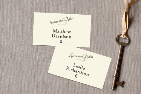 Just My Type Wedding Place Cards