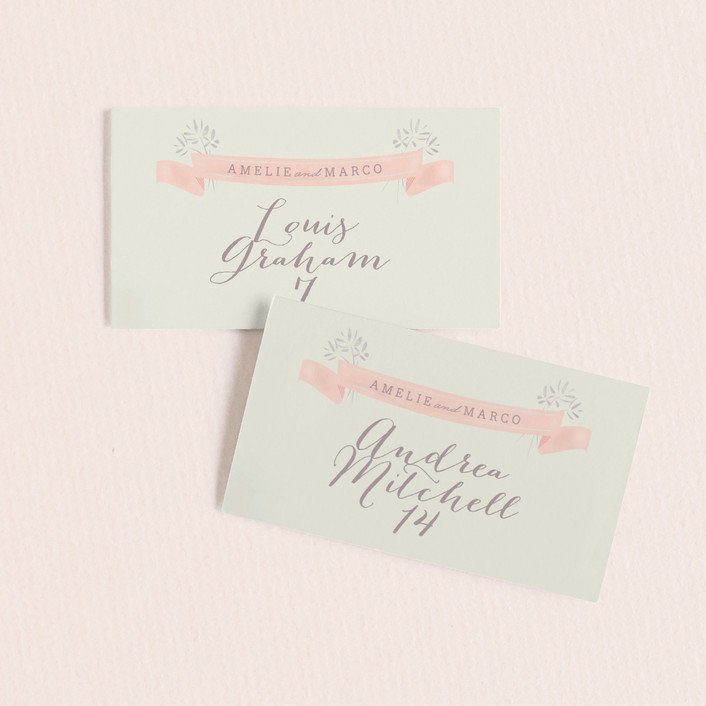 """""""Paris Lights"""" - Rustic, Bohemian Wedding Place Cards in Violet by Lori Wemple."""