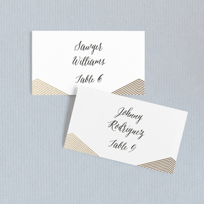 """""""Culmination"""" - Wedding Place Cards in Gold by Design Lotus."""