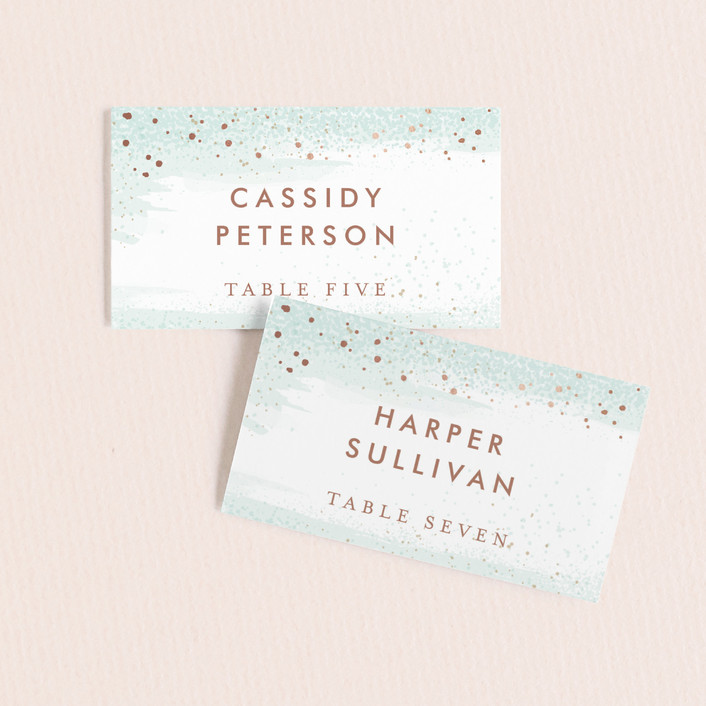 """""""Awash"""" - Wedding Place Cards in Sea Glass by Jessica Williams."""