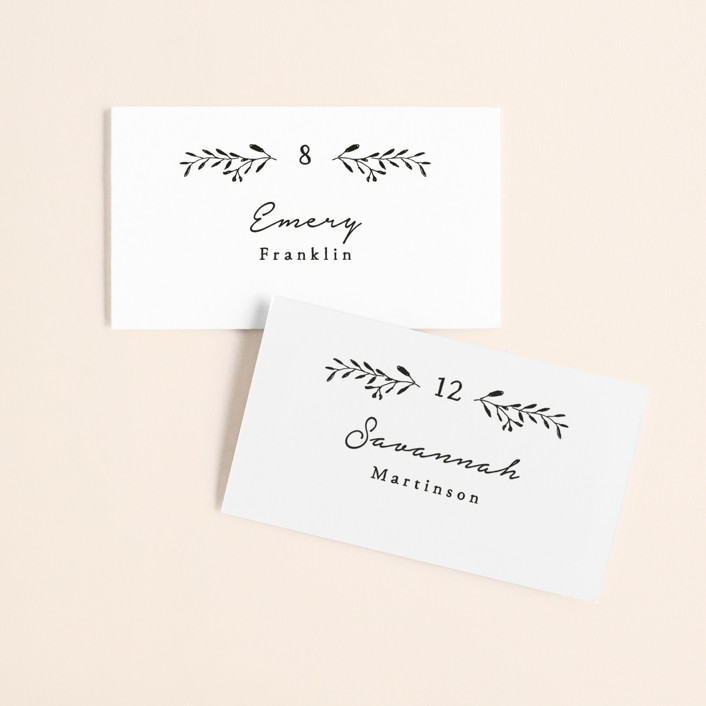"""""""Charleston"""" - Wedding Place Cards in Tuxedo by Susan Brown."""