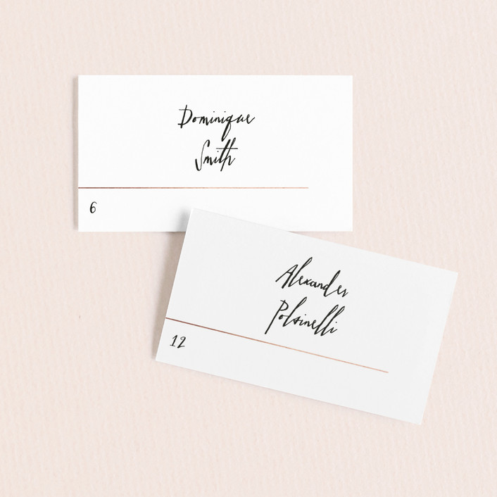 """""""BOLD AS LOVE"""" - Modern Wedding Place Cards in Noir by DESIGN X FIVE."""