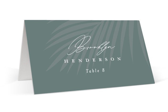 Faded Palm Place Cards