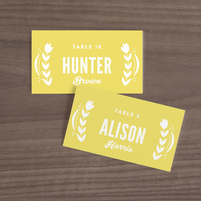 """""""Pretty Picado"""" - Wedding Place Cards in Sunshine by Jessie Steury."""