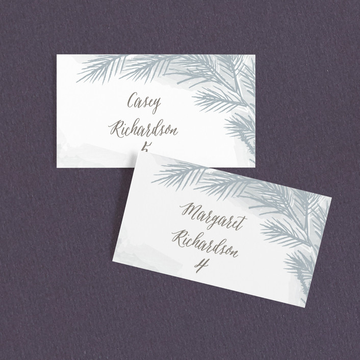 """""""Winter Dream"""" - Wedding Place Cards in Ice Grey by Karidy Walker."""