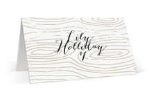 This is a white wedding place card by Jody Wody called Silver and Gold with standard printing on signature in placecard.