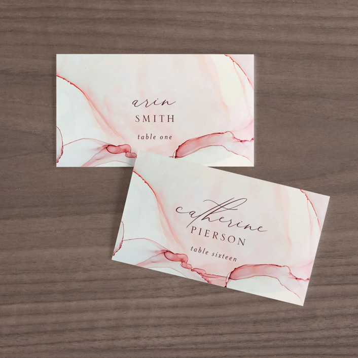 """""""opalescent"""" - Wedding Place Cards in Chalcedony by Erin Deegan."""