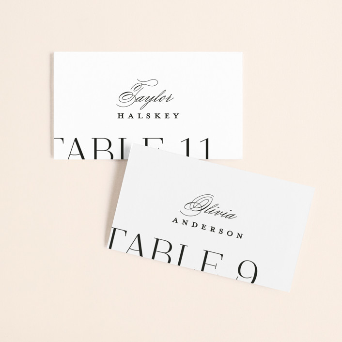 """""""Coupling"""" - Wedding Place Cards in Cloud by Lauren Chism."""