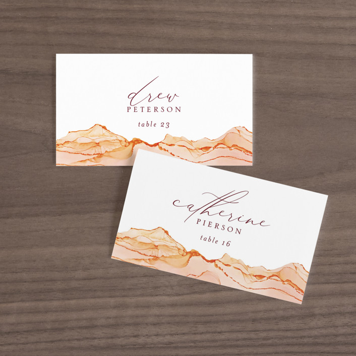 """Sandstone"" - Wedding Place Cards in Topaz by Erin Deegan."