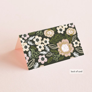 Botanical Wreath Place Cards