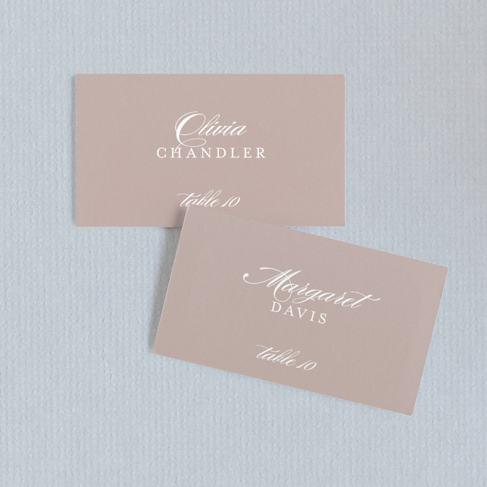 """Modern Marble"" - Modern, Simple Wedding Place Cards in Mocha by kelli hall."