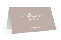 This is a brown wedding place card by kelli hall called Modern Marble with standard printing on signature in placecard.