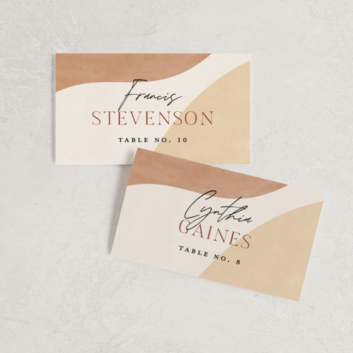 """""""Surface"""" - Modern Wedding Place Cards in West by Pixel and Hank."""