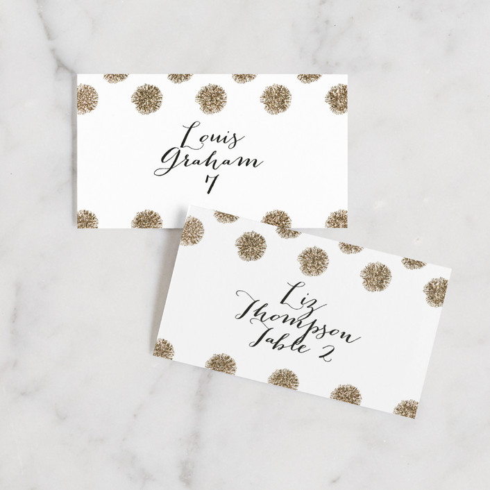 """""""Sparkle Everywhere"""" - Wedding Place Cards in Snow by Aspacia Kusulas."""