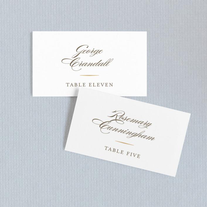 """Valencay"" - Elegant, Classical Wedding Place Cards in Silk by chocomocacino."