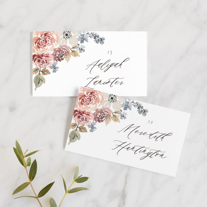 """Wildflower Garden"" - Wedding Place Cards in Meadow by Wildfield Paper Co.."