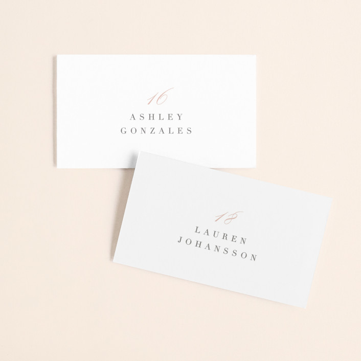 """Gramercy"" - Wedding Place Cards in Blush by Kristie Kern."