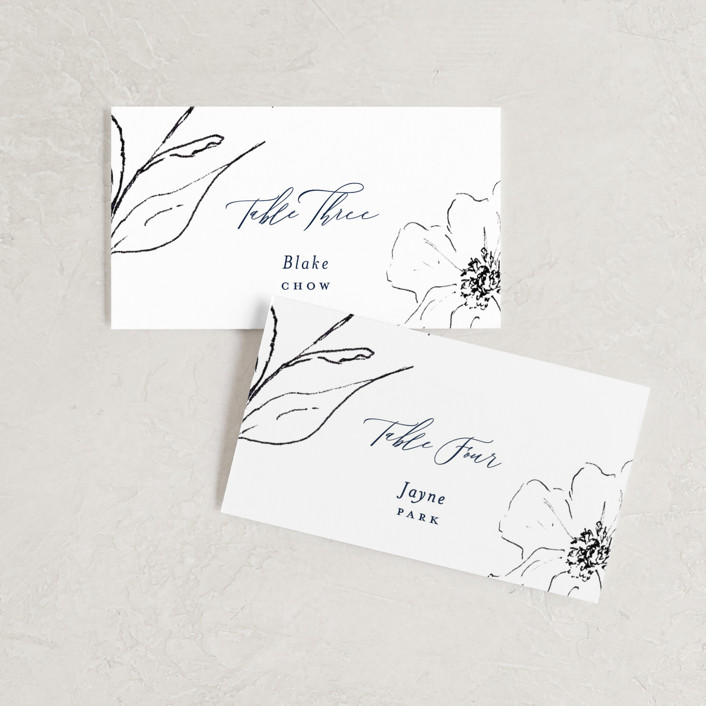 """""""Elysium"""" - Wedding Place Cards in Linen by Design Lotus."""