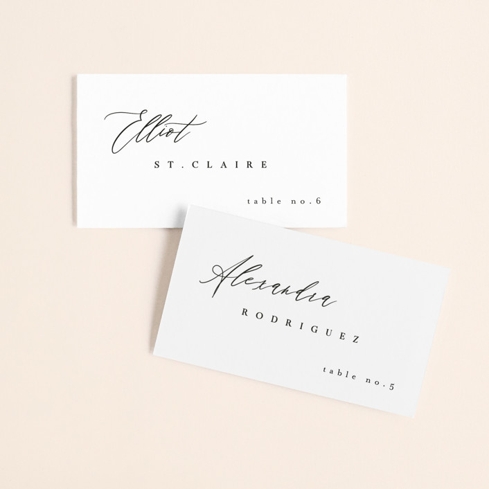 """""""Corison"""" - Wedding Place Cards in Classic by Kelly Schmidt."""