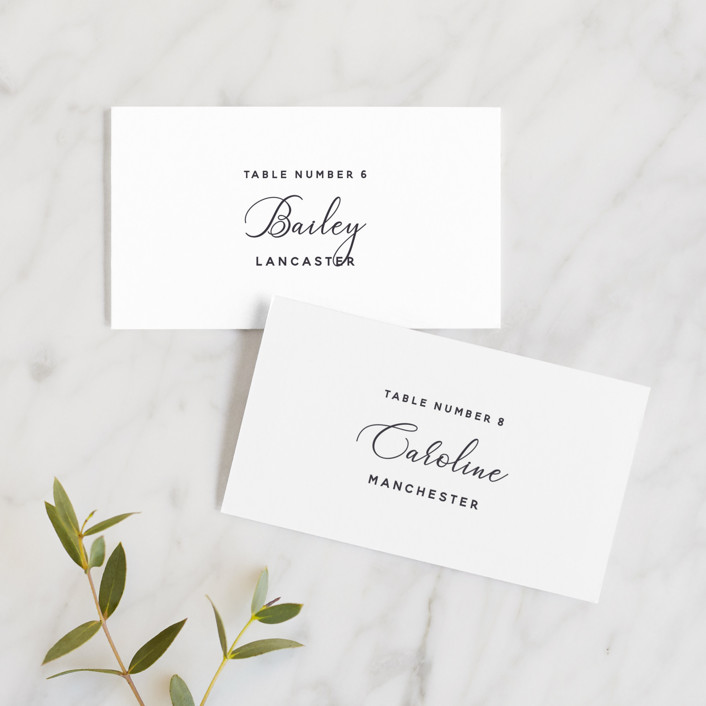 """""""Right Side"""" - Wedding Place Cards in Blackberry by Susan Brown."""