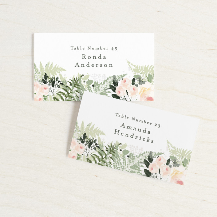 """beautiful posies"" - Wedding Place Cards in Fresh by Phrosne Ras."