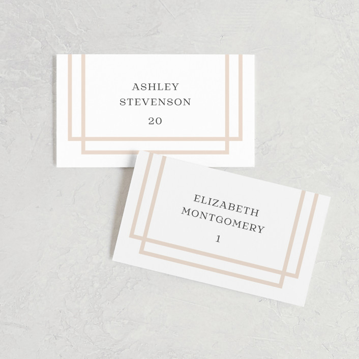 """""""Timeless Love"""" - Wedding Place Cards in Blush by Carolyn MacLaren."""