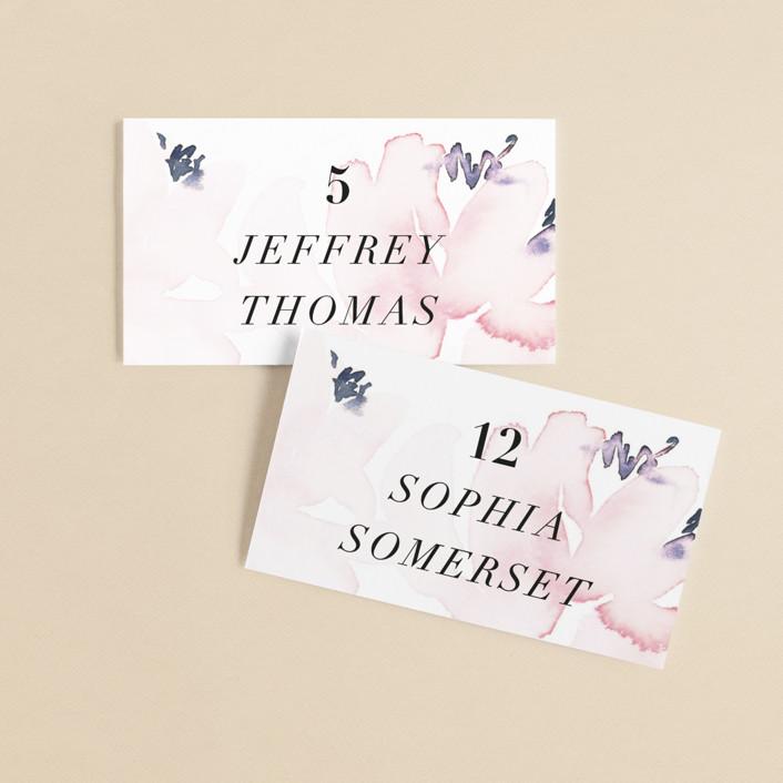 """""""Florista Modernista"""" - Wedding Place Cards in Azalea by Petra Kern."""