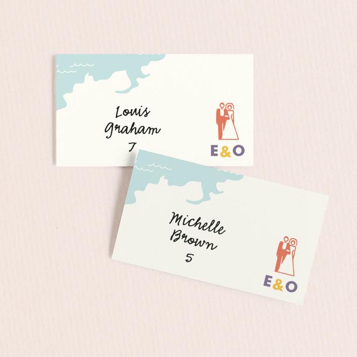 """""""Destination"""" - Destination Wedding Place Cards in Lilac Haze by leslie hamer."""