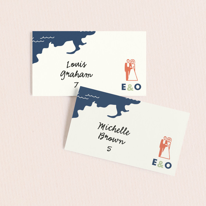 """""""Destination"""" - Wedding Place Cards in Lilac Haze by leslie hamer."""