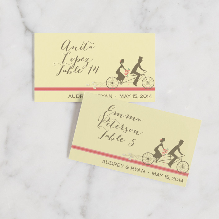 """Journey Together"" - Wedding Place Cards in Buttercream by Letter19Design."