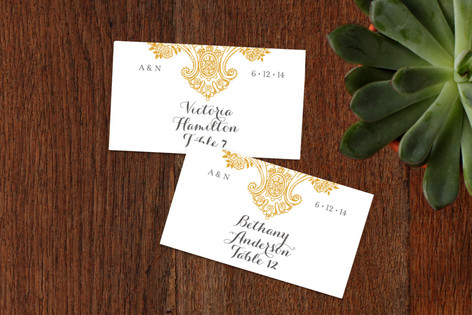 Spanish Lace Wedding Place Cards