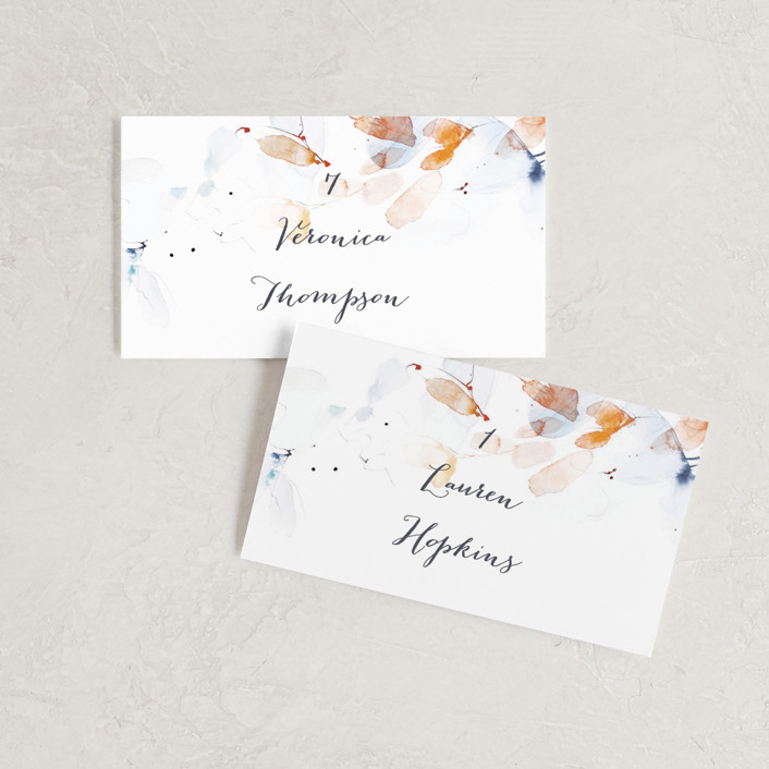 """Petale"" - Wedding Place Cards in Blush by Kelly Ventura."