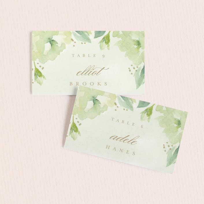 """Southern Garden"" - Wedding Place Cards in Moss by Lori Wemple."