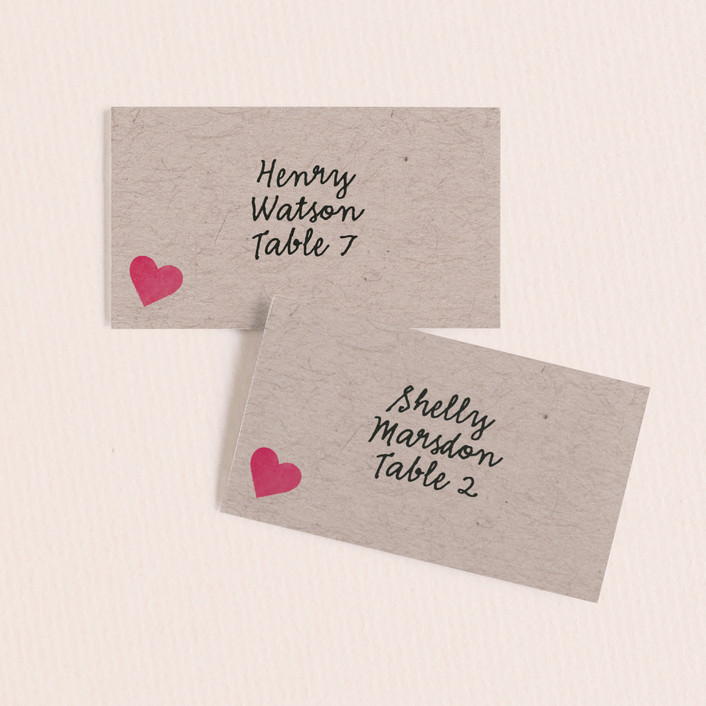 """Valentine's Ombre Love"" - Craft Wedding Place Cards in Kraft by Becca Thongkham."