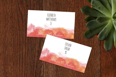 Aquarelle Wedding Place Cards