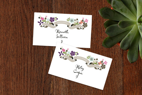 Banner and Branches Wedding Place Cards