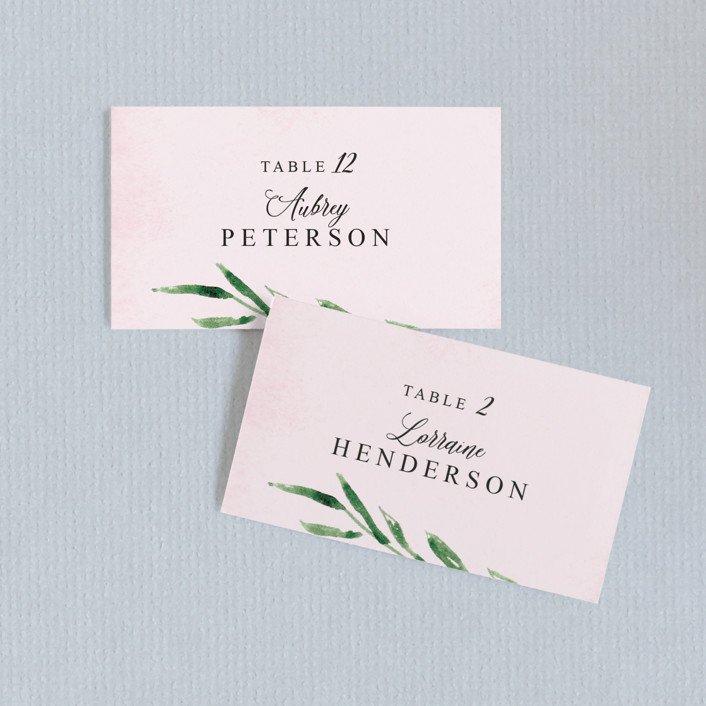 """""""Garden Party Joy"""" - Wedding Place Cards in Blush by frances."""