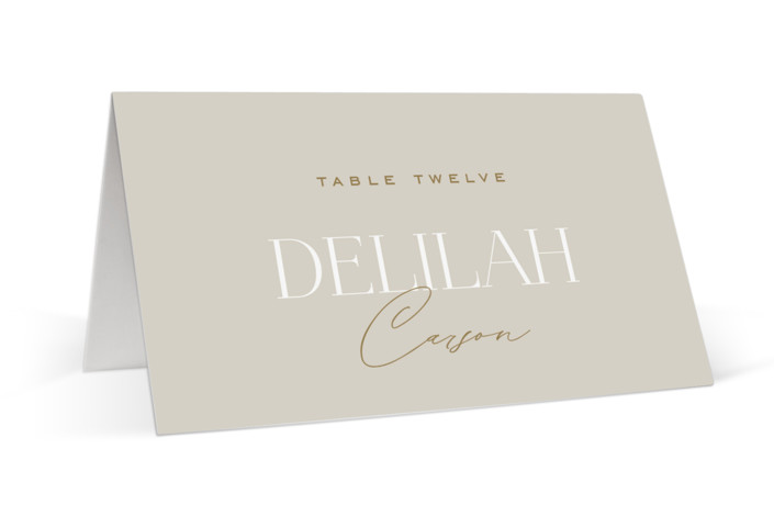 Oval Place Cards